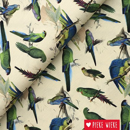 Viscose tricot vogels