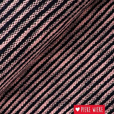 Gebreid strepen zwart roze