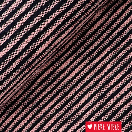 Knitted stripes black pink