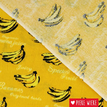 Katoen bananen geel
