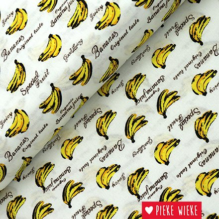 Katoen bananen wit