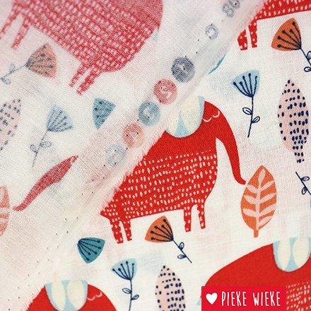 Windham Fabrics Katoen Painted jungle Olifant