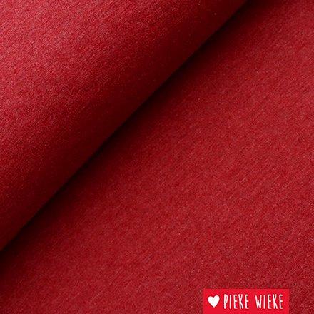 Sweater stof Effen gemêleerd Bordeaux rood