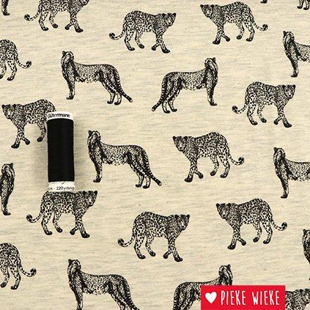 Poppy Jersey Leopard Gray
