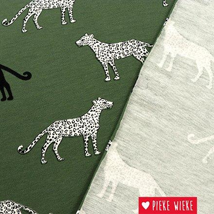 Tricot Leopard Groen