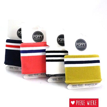 Poppy Cuff sleeve Mustard - White - Blue (135cm)