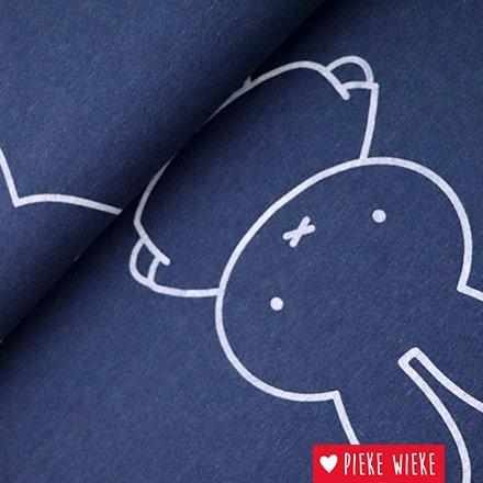 Sweaterstof met een mooie Nijntje print. Illustratie van Dick Bruna.