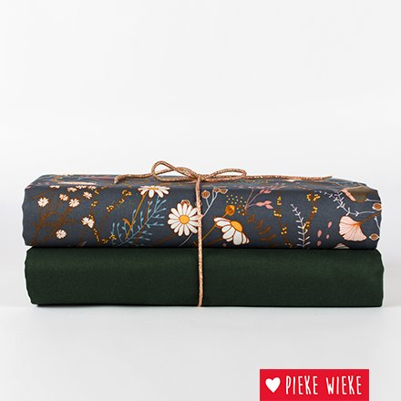 See You at Six Cotton gabardine twill solid Duffel green