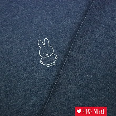 Jersey fabric with beautiful Miffy print. Illustration by Dick Bruna.