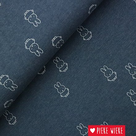 JerseyFabric Miffy Blue