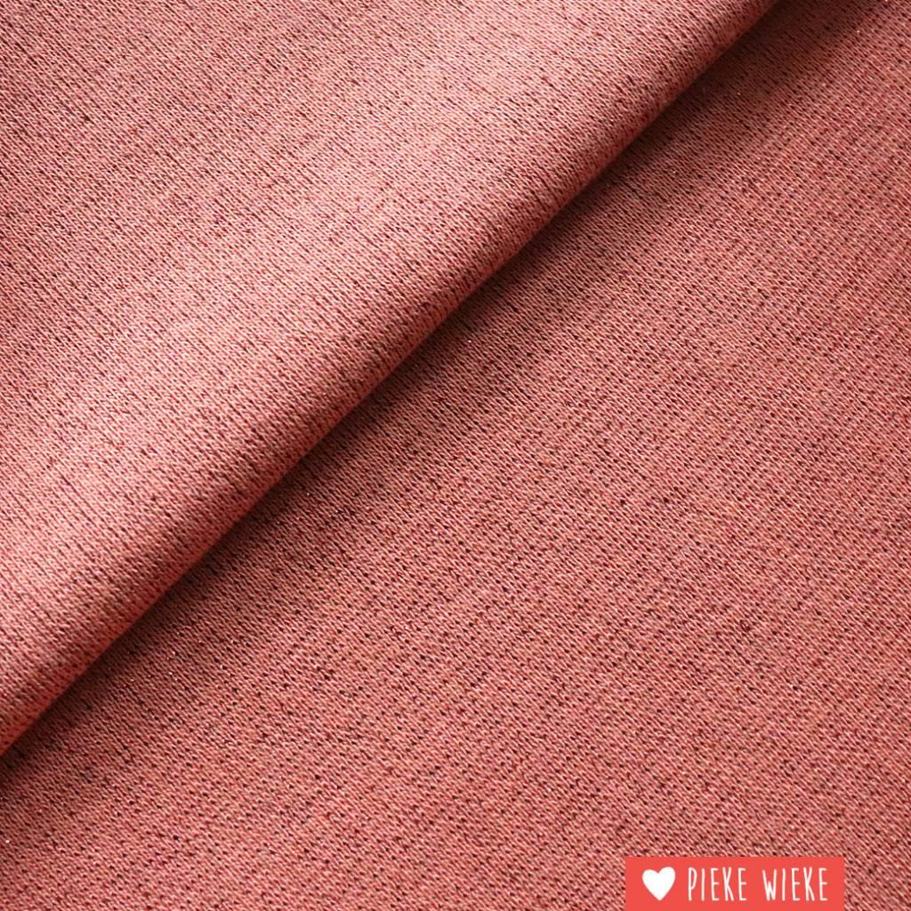 Glitterboordstof roze-rosé
