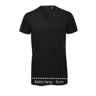 Logostar V-Ausschnitt T-shirt Xtra long