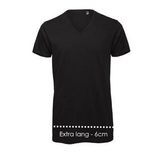 Logostar V-Ausschnitt T-shirt XXtra long
