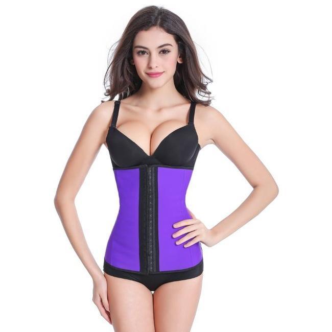 Plein Shops Latex waist trainer korsett - Violett