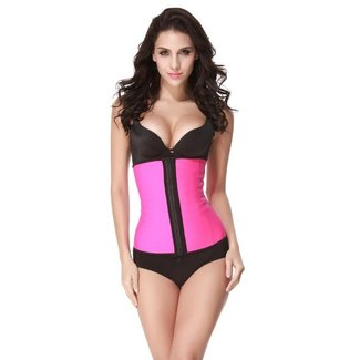 Plein Shops Latex waist trainer corset - roze