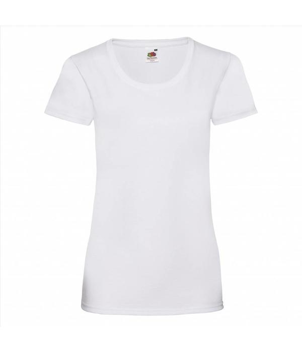 Fruit of the Loom zwart dames T-shirt korte mouwen