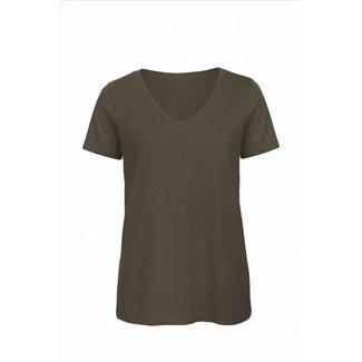 B&C Basic dames t-shirt v-hals