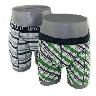Apollo Underwear 2-pack groen & grijs