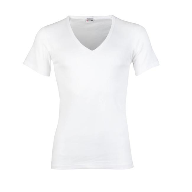 Beeren Bodywear T-shirt weiss mit tiefem V-Ausschnitt