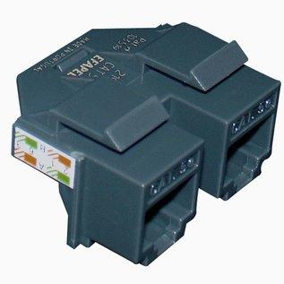 Efapel Modular jack rj45 cat 5e UTP  (1in/2Uit) connector (250mhz)