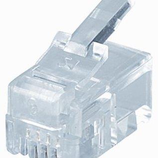 Efapel RJ11 steker 4(4) polig krimp