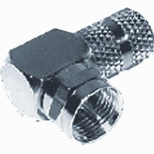 Efapel F connector male 90 graden