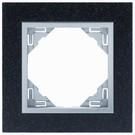Efapel Petra afdekr. 1 voudig graniet/alu