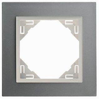 Efapel Metallo afdekr. 1 voudig titanium/parel