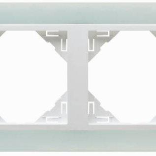 Efapel Crystal afdekr. 4 voudig wit glas/wit ice