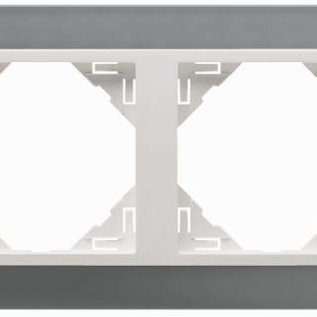 Efapel Metallo afdekr. 4 voudig titanium/parel