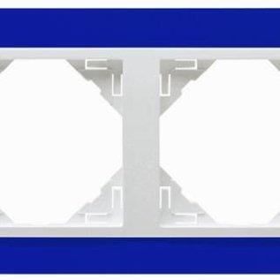 Efapel Animato afdekr. 4 voudig blauw/wit