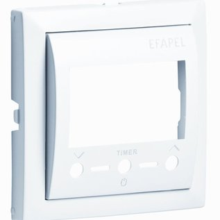 Efapel Cpl thermostaat i.c.m. Infrarood afstandsbediening aluminium