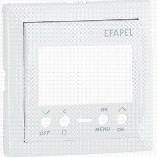 Efapel Cpl tijdschakelaar digitaal 16A 1 circuit aluminium