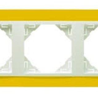 Efapel Animato afdekr. 3 voudig geel/wit