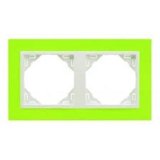 Efapel Animato afdekr. 2 voudig groen/wit