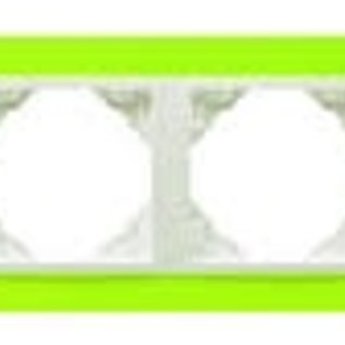 Efapel Animato afdekr. 4 voudig groen/wit