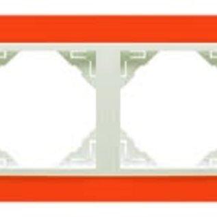 Efapel Animato afdekr. 2 voudig oranje/wit