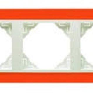 Efapel Animato afdekr. 3 voudig oranje/wit