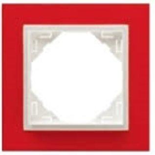 Efapel Animato afdekr. 1 voudig rood/wit