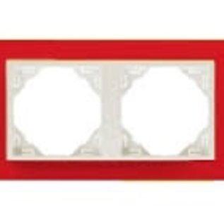 Efapel Animato afdekr. 2 voudig rood/wit