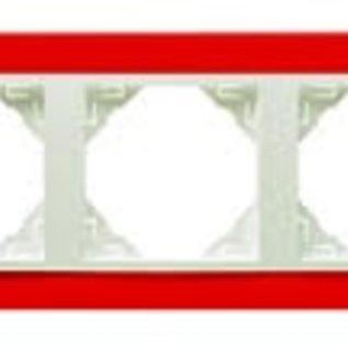 Efapel Animato afdekr. 3 voudig rood/wit