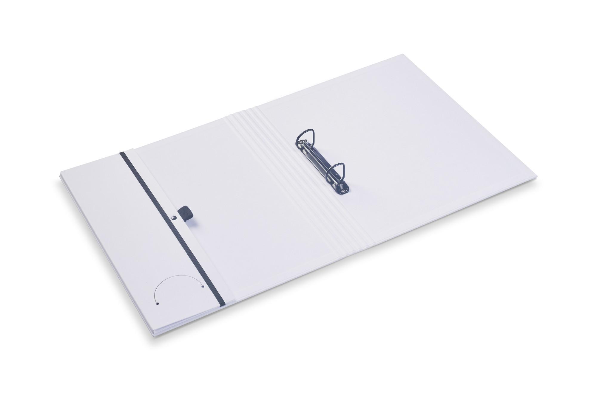 Luxury binder fine linen white