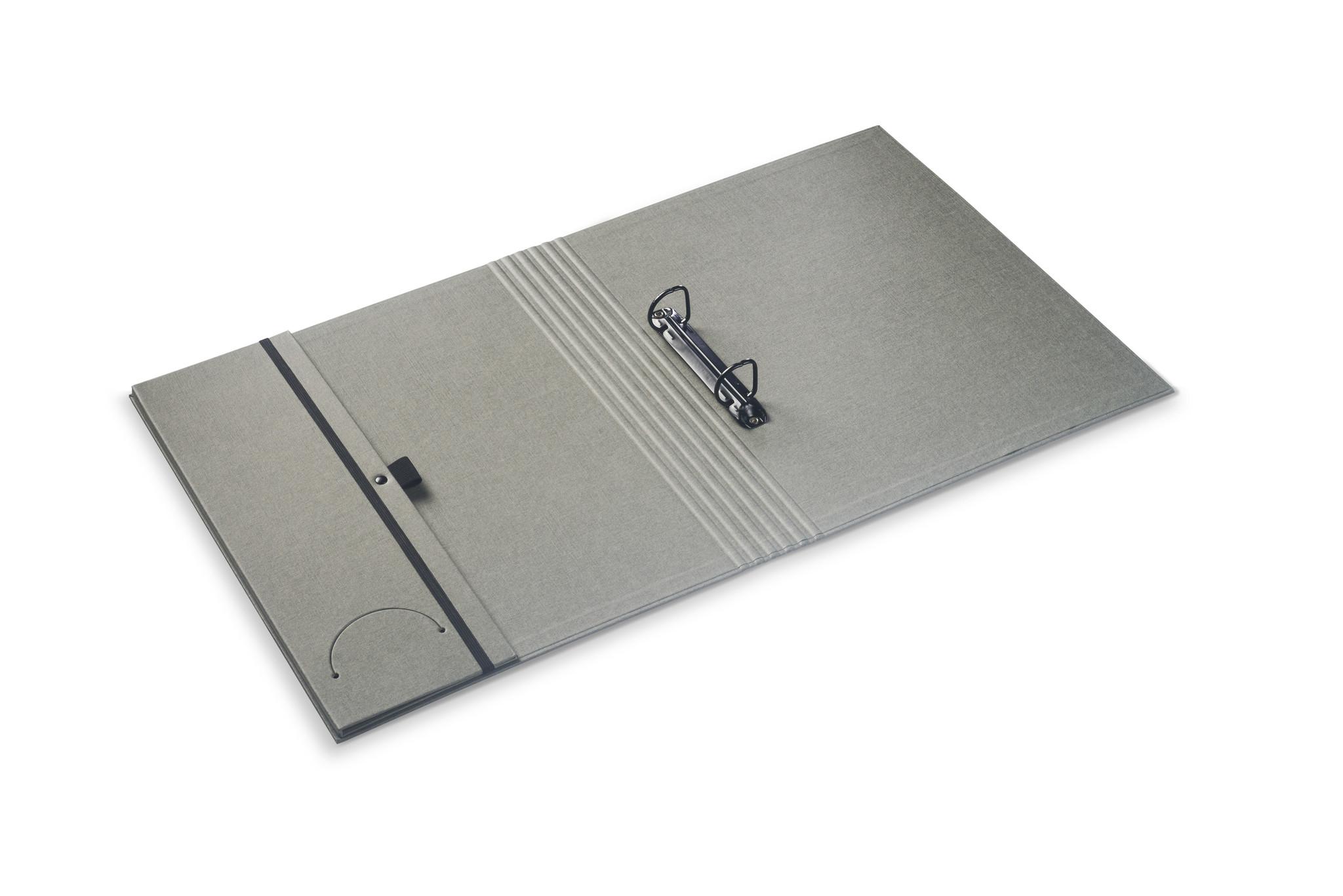 Luxury binder fine linen grey
