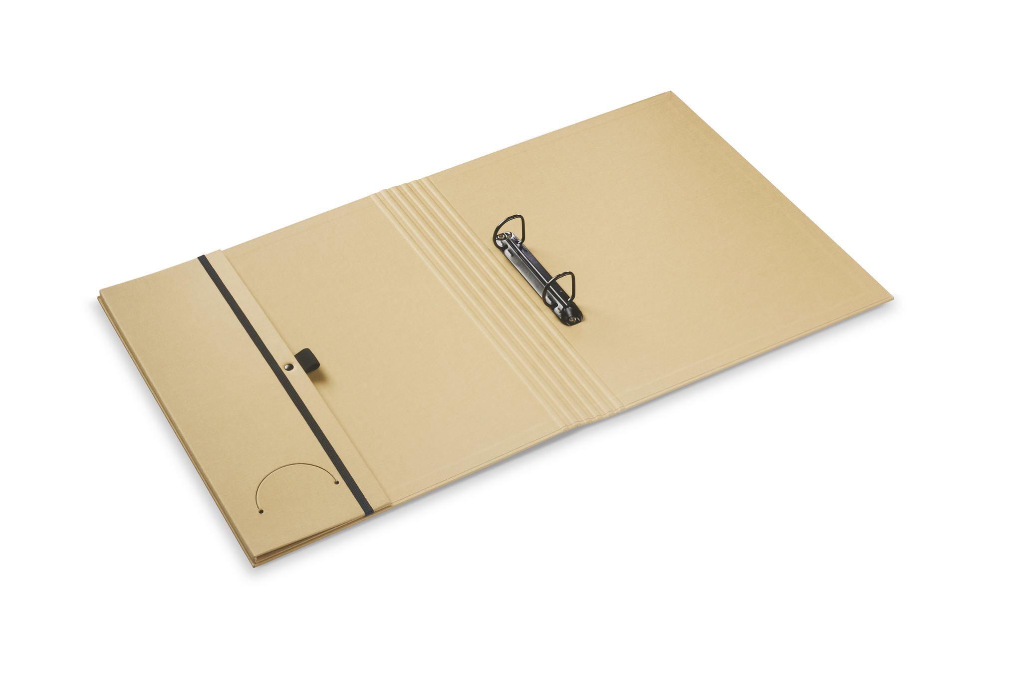 Luxury binder fine linen beige