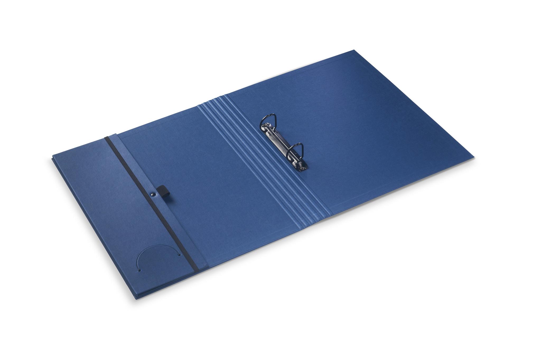 Luxury binder fine linen Parisian blue