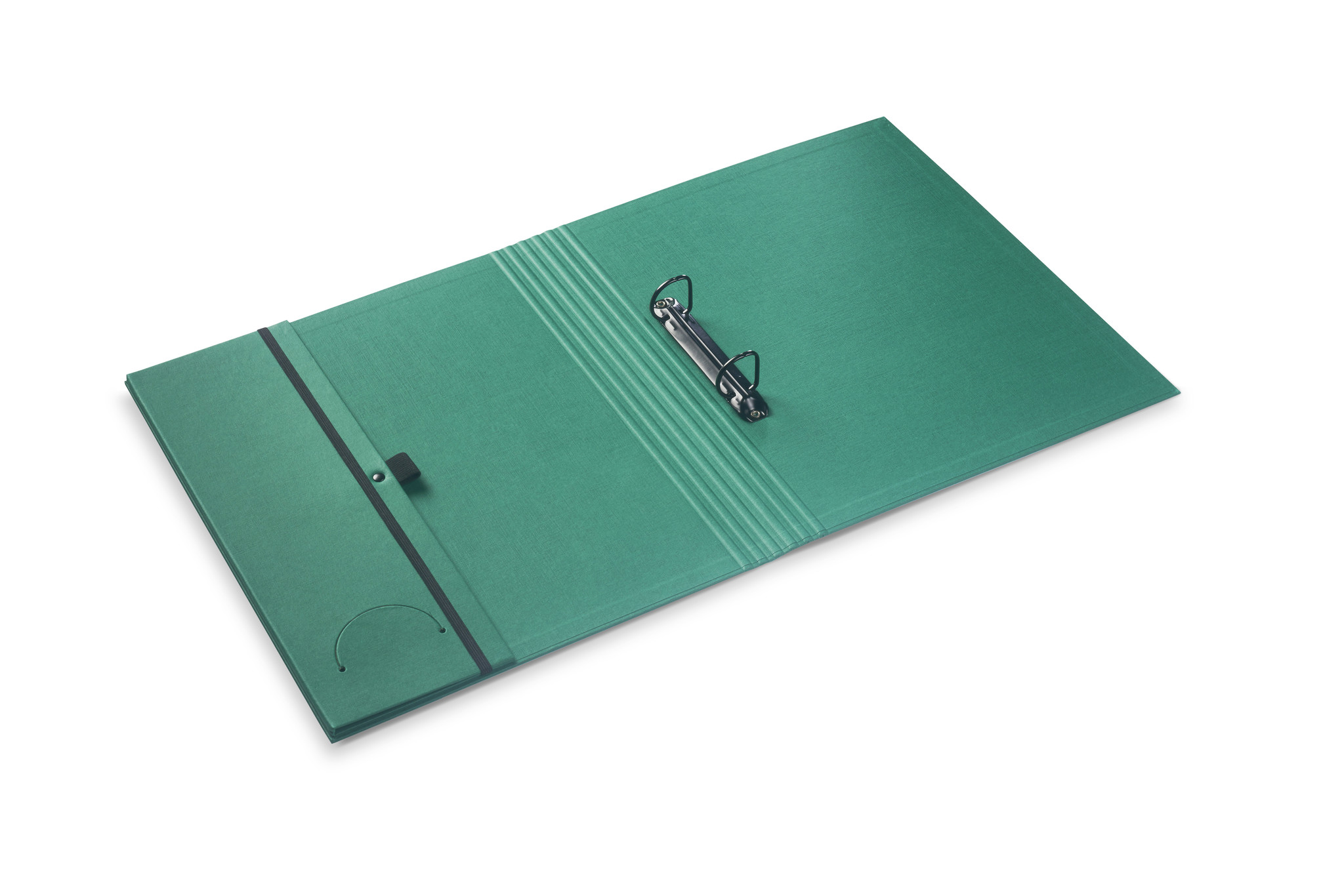 Luxury binder fine linen dark green