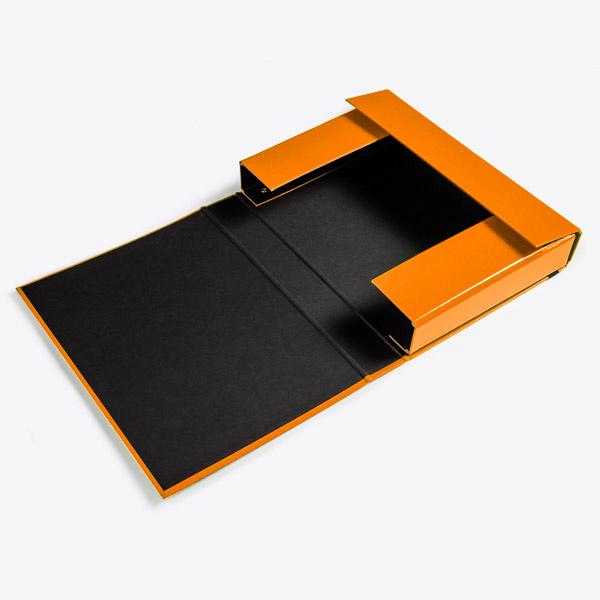 Opbergbox A4 50 mm oranje
