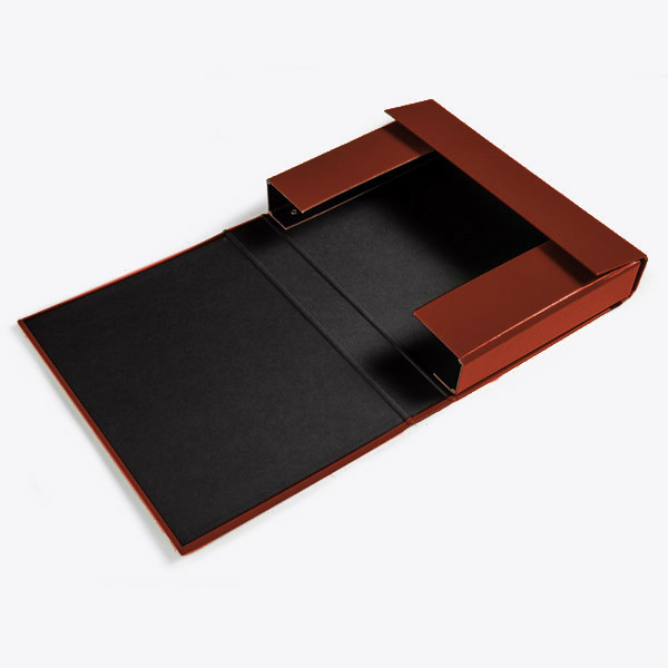Opbergbox A4 50 mm 'croco' print bruin