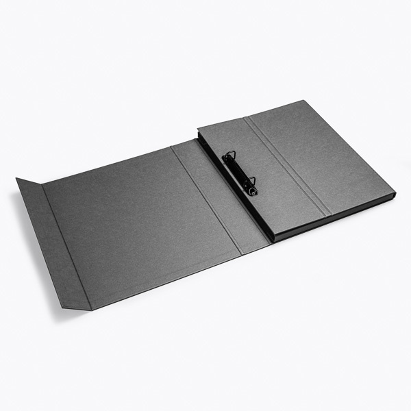 Deluxe ring binder charcoal
