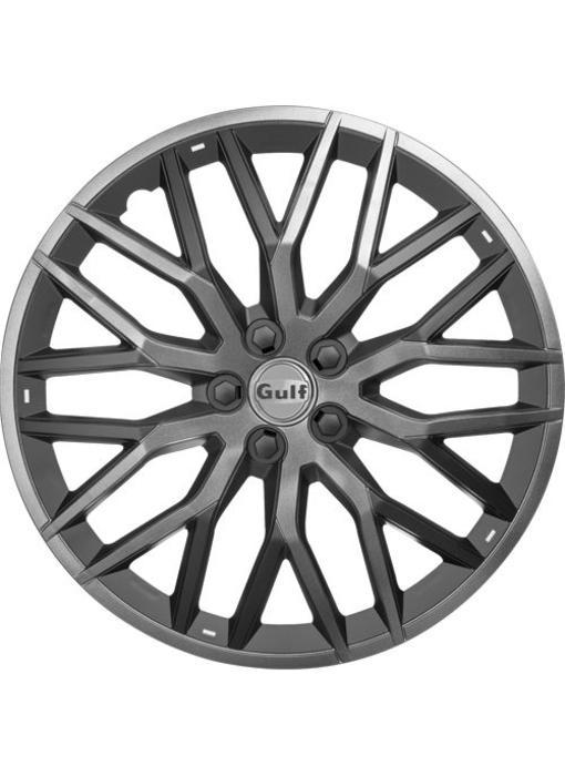 Set 4 stuks wieldoppen 13 inch GT40 Grijs / Zwart